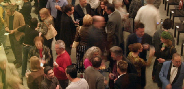 The lobby during an event