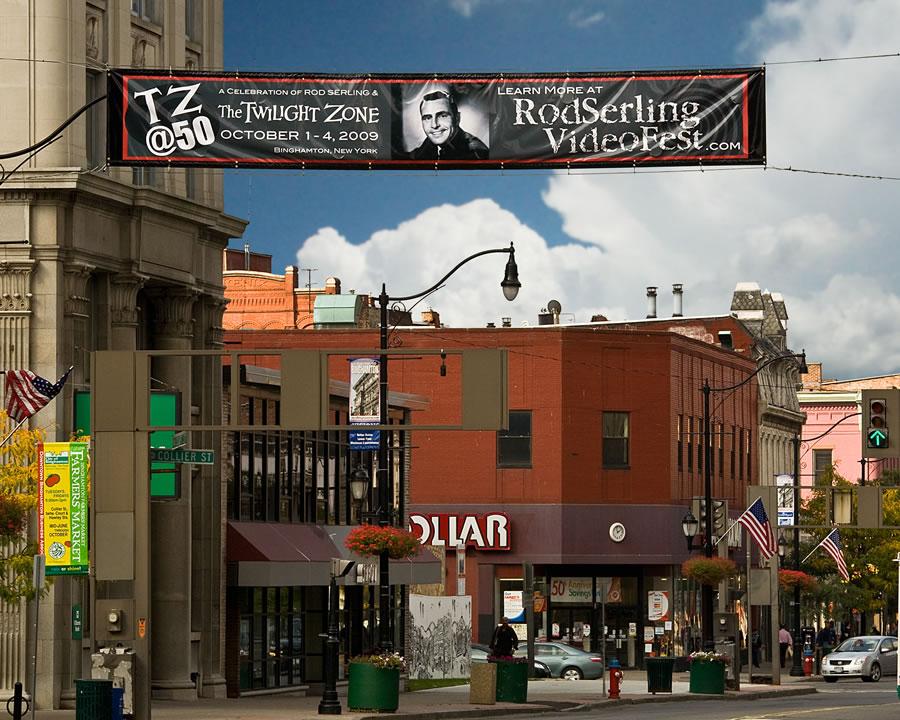 Sign in downtown Binghamton