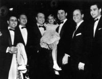 Rod Serling with others at the Emmys
