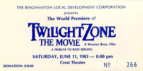 Ticket to the World Premiere of Twilight Zone