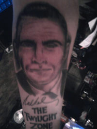 Rod Serling portrait tattoos