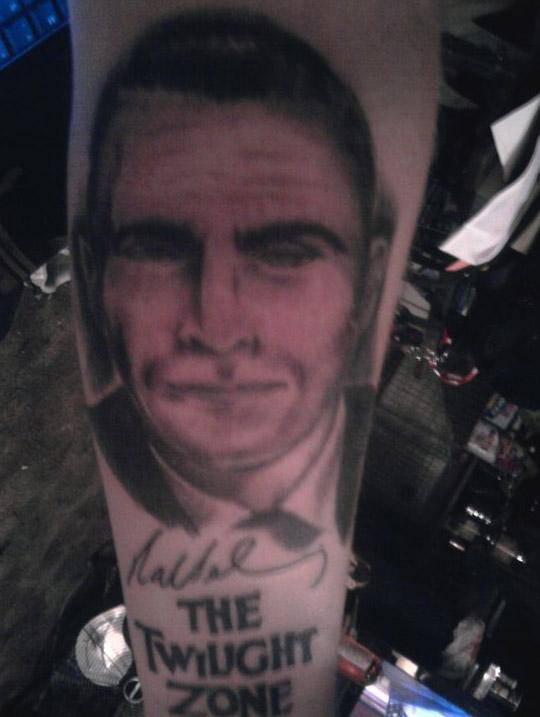 Rod Serling portrait tattoos