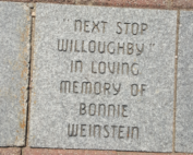 Next stop willoughby - in loving memory of Bonnie Weinstein