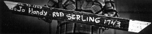 Door frame with Rod Serling's name on it