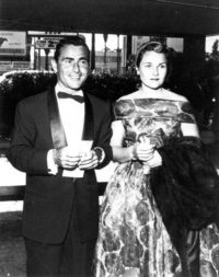 Rod and Carol Serling arriving at the Emmy Awards in 1959