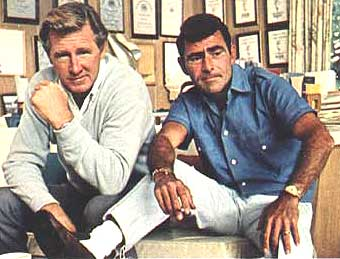 Llyod Bridges and Rod Serling