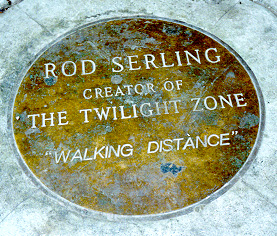 Brass monument to Rod Serling and Walking Distance