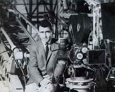 Rod Serling pitching Twilight Zone