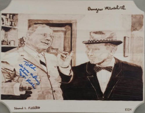 "Don Rickles and Burgess Meredith in ""Mr. Dingle, the Strong"""