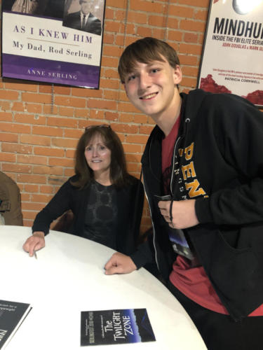 Adrian Elliott meets Anne Serling