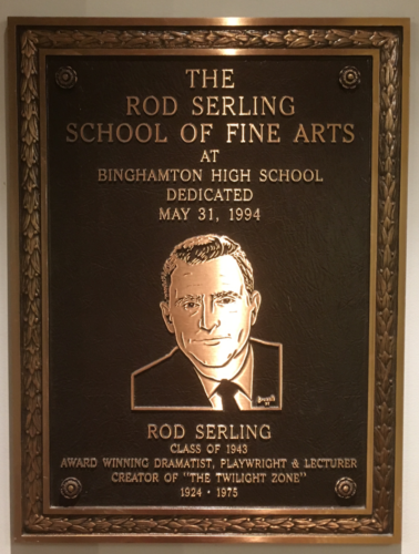 Rod Serling's plaque at BHS