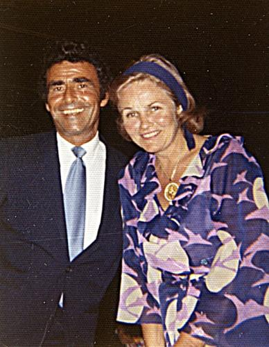 Carol Serling with Rod circa 1970s