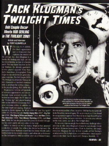 Klugman Filmfax 1