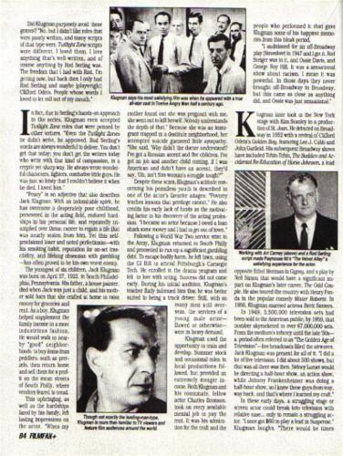Klugman Filmfax 2