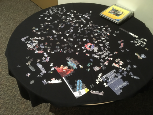 Twilight Zone puzzle out for public assembly.